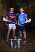 2 May 2018; Rory O'Connor of Wexford with Fergal Whitely of Dublin at the launch of the Bord Gáis Energy GAA Hurling U21 All-Ireland Championship at Mitchelstown Caves in Cork. The 2018 campaign begins on May 7th with Clare hosting current holders Limerick in Ennis. Follow all of the action at #HurlingToTheCore. Photo by Eóin Noonan/Sportsfile
