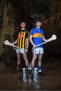 2 May 2018; Richie Leahy of Kilkenny with Paudie Feehan of Tipperary at the launch of the Bord Gáis Energy GAA Hurling U21 All-Ireland Championship at Mitchelstown Caves in Cork. The 2018 campaign begins on May 7th with Clare hosting current holders Limerick in Ennis. Follow all of the action at #HurlingToTheCore. Photo by Eóin Noonan/Sportsfile