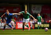 5 April 2018; Karl Sheppard of Cork City in action against Kilian Cantwell of Limerick during the SSE Airtricity League Premier Division between Cork City and Limerick at Turners Cross in Cork. Photo by Eóin Noonan/Sportsfile