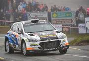 5 May 2018; Eugene Donnelly and Mark Kane in a (Hyundai I20 R5)  during Day One of the 2018 Cartell.ie Rally of the Lakes, at Special Stage 1 Molls Gap, Killarney, Co Kerry. Photo by Philip Fitzpatrick/Sportsfile