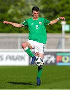 5 May 2018; Barry Coffey of Republic of Ireland in action during the UEFA U17 Championship Final match between Republic of Ireland and Belgium at Loughborough University Stadium in Loughborough, England. Photo by Malcolm Couzens/Sportsfile
