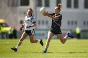 6 May 2018; Aishling Moloney of Tipperary in action against Sinéad Greene of Cavan during the Lidl Ladies Football National League Division 2 Final match between Cavan and Tipperary at Parnell Park in Dublin. Photo by Tom Beary/Sportsfile
