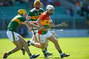 6 May 2018; Chris Nolan of Carlow in action against John Buckley of Kerry during the Joe McDonagh Cup Round 1 match between Carlow and Kerry at Netwatch Cullen Park in Carlow. Photo by Matt Browne/Sportsfile