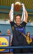 6 May 2018; Tipperary captain Samantha Lambert lifts the cup after the Lidl Ladies Football National League Division 2 Final match between Cavan and Tipperary at Parnell Park in Dublin. Photo by Piaras Ó Mídheach/Sportsfile