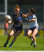 6 May 2018; Aishling Moloney of Tipperary in action against Sinéad Greene of Cavan during the Lidl Ladies Football National League Division 2 Final match between Cavan and Tipperary at Parnell Park in Dublin. Photo by Piaras Ó Mídheach/Sportsfile