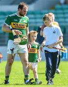 6 May 2018; Mikey Boyle of Kerry with his sons 4 year old Bobby and 12 year old Killian after the Joe McDonagh Cup Round 1 match between Carlow and Kerry at Netwatch Cullen Park in Carlow. Photo by Matt Browne/Sportsfile