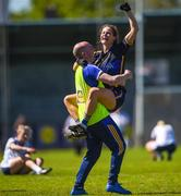 6 May 2018;  Maria Curley of Tipperary celebrates with manager Shane Ronayne following the Lidl Ladies Football National League Division 2 Final match between Cavan and Tipperary at Parnell Park in Dublin. Photo by Tom Beary/Sportsfile