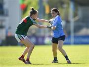 6 May 2018; Sinead Aherne of Dublin in action against Nicola O'Malley of Mayo during the Lidl Ladies Football National League Division 1 Final match between Dublin and Mayo at Parnell Park in Dublin. Photo by Tom Beary/Sportsfile
