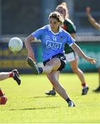 6 May 2018; Noelle Healy of Dublin scores a point during the Lidl Ladies Football National League Division 1 Final match between Dublin and Mayo at Parnell Park in Dublin. Photo by Tom Beary/Sportsfile