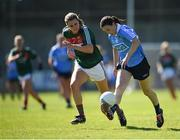 6 May 2018; Sinead Aherne of Dublin in action against Clodagh McManamon of Mayo during the Lidl Ladies Football National League Division 1 Final match between Dublin and Mayo at Parnell Park in Dublin. Photo by Tom Beary/Sportsfile