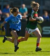 6 May 2018; Fiona McHale of Mayo gets past Martha Byrne of Dublin during the Lidl Ladies Football National League Division 1 Final match between Dublin and Mayo at Parnell Park in Dublin. Photo by Piaras Ó Mídheach/Sportsfile