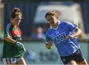 6 May 2018; Noëlle Healy of Dublin celebrates scoring her side's third goal during the Lidl Ladies Football National League Division 1 Final match between Dublin and Mayo at Parnell Park in Dublin. Photo by Piaras Ó Mídheach/Sportsfile