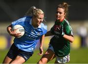 6 May 2018; Nicole Owens of Dublin in action against Emma Lowther of Mayo during the Lidl Ladies Football National League Division 1 Final match between Dublin and Mayo at Parnell Park in Dublin. Photo by Piaras Ó Mídheach/Sportsfile