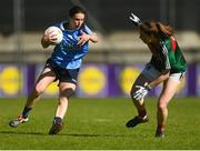 6 May 2018; Sinéad Aherne of Dublin in action against Sarah Tierney of Mayo during the Lidl Ladies Football National League Division 1 Final match between Dublin and Mayo at Parnell Park in Dublin. Photo by Piaras Ó Mídheach/Sportsfile