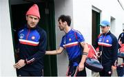 6 May 2018; Neil Collins, left, and Jamie Clarke of New York prior to the Connacht GAA Football Senior Championship Quarter-Final match between New York and Leitrim at McGovern Park at Gaelic Park in New York, USA. Photo by Stephen McCarthy/Sportsfile