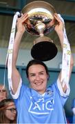 6 May 2018; Dublin captain Sinéad Aherne lifts the cup after the Lidl Ladies Football National League Division 1 Final match between Dublin and Mayo at Parnell Park in Dublin. Photo by Piaras Ó Mídheach/Sportsfile
