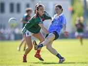 6 May 2018; Sinead Aherne of Dublin in action against Aileen Gilroy of Mayo during the Lidl Ladies Football National League Division 1 Final match between Dublin and Mayo at Parnell Park in Dublin. Photo by Tom Beary/Sportsfile