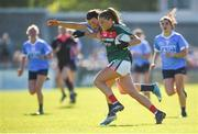 6 May 2018; Sarah Rowe of Mayo in action against Leah Caffrey of Dublin during the Lidl Ladies Football National League Division 1 Final match between Dublin and Mayo at Parnell Park in Dublin. Photo by Tom Beary/Sportsfile