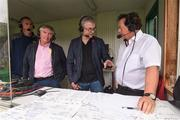 6 May 2018; RTÉ radio match analysts Joe Brolly, centre, and Martin McHugh with GAA correspondent Marty Morrissey during the Connacht GAA Football Senior Championship Quarter-Final match between New York and Leitrim at Gaelic Park in New York, USA. Photo by Stephen McCarthy/Sportsfile