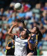 6 May 2018; Emma Buckley of Tipperary in action against Gráinne McGlade of Cavan during the Lidl Ladies Football National League Division 2 Final match between Cavan and Tipperary at Parnell Park in Dublin. Photo by Tom Beary/Sportsfile