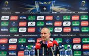 7 May 2018; Senior coach Stuart Lancaster during a Leinster Rugby press conference at Leinster Rugby Headquarters in Dublin. Photo by Ramsey Cardy/Sportsfile