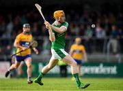 7 May 2018; Seamus Flanagan of Limerick scores his side's first goal of the game during the Bord Gáis Energy Munster GAA Hurling U21 Championship quarter-final match between Clare and Limerick at Cusack Park in Ennis, Clare. Photo by Eóin Noonan/Sportsfile