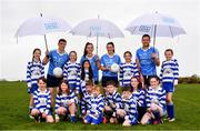 8 May 2018; In attendance during the announcement of the renewal of AIG's sponsorship deal with Dublin GAA, Dublin LGFA and Dubin Camogie, are, Dublin players, from left, John Small, Hannah Hegarty, Lyndsey Davey and Conal Keaney, with young players from Beann Éadair GAA Club. The announcement took place at Beann Éadair GAA Club, in Balkill Rd, Howth, Dublin. Photo by Sam Barnes/Sportsfile
