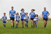 8 May 2018; In attendance during the announcement of the renewal of AIG's sponsorship deal with Dublin GAA, Dublin LGFA and Dubin Camogie, are, Dublin players, from left,  John Small, Hannah Hegarty, Lyndsey Davey and Conal Keaney, with Beann Éadair GAA players, from left, Rían O'Reilly, Roisín Barrett,  Patrick Hassett and Sophie-Bao Garrahy. The announcement took place at Beann Éadair GAA Club, in Balkill Rd, Howth, Dublin. Photo by Sam Barnes/Sportsfile