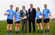 8 May 2018; In attendance during the announcement of the renewal of AIG's sponsorship deal with Dublin GAA, Dublin LGFA and Dubin Camogie, are, Declan O'Rourke, General manager AIG Ireland, and John Costello, Dublin GAA Chief Executive, with Dublin players, from left, John Small, Hannah Hegarty, Lyndsey Davey and Conal Keaney, at Beann Éadair GAA Club, in Balkill Rd, Howth, Dublin. Photo by Sam Barnes/Sportsfile