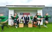 8 May 2018; Sky Sports today announced its GAA fixtures for the 2018 Championship from an event in Parnells GAA Club. A total of 20 live, and 14 exclusive, fixtures of Championship action will be available on Sky's multi-platform offering. Exclusive coverage gets underway with a mouth-watering double-header on June 2nd when 2017 All Ireland Hurling Champions Galway take on Wexford and Cork take on old rivals Limerick in what are bound to be hotly contested fixtures. Kilkenny's eight-time All-Ireland winner and three-time All Star, Michael Fennelly, will join a stellar line-up of GAA legends for Sky Sports' most exciting season of GAA coverage to date. This year will once again see insight and analysis across both codes from Tyrone hero Peter Canavan, former Mayo manager James Horan, former Donegal manager Jim McGuinness, former Dublin GAA star Senan Connell,  Clare's two-time All-Ireland champion Jamesie O'Connor, Kilkenny's nine-time All-Ireland winner JJ Delaney and four-time All-Star defender Ollie Canning. Lead commentary will come from Dave McIntyre and Mike Finnerty with co-commentary from Nicky English, new addition Mick Fennelly, Dick Clerkin and Paul Earley, and sideline reporting from Damian Lawlor. Pictured at the launch are analysts Peter Canavan, left, and JJ Delaney with young players from Parnells GAA Club, Dublin. Photo by Brendan Moran/Sportsfile