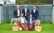 8 May 2018; Sky Sports today announced its GAA fixtures for the 2018 Championship from an event in Parnells GAA Club. A total of 20 live, and 14 exclusive, fixtures of Championship action will be available on Sky's multi-platform offering. Exclusive coverage gets underway with a mouth-watering double-header on June 2nd when 2017 All Ireland Hurling Champions Galway take on Wexford and Cork take on old rivals Limerick in what are bound to be hotly contested fixtures. Kilkenny's eight-time All-Ireland winner and three-time All Star, Michael Fennelly, will join a stellar line-up of GAA legends for Sky Sports' most exciting season of GAA coverage to date. This year will once again see insight and analysis across both codes from Tyrone hero Peter Canavan, former Mayo manager James Horan, former Donegal manager Jim McGuinness, former Dublin GAA star Senan Connell,  Clare's two-time All-Ireland champion Jamesie O'Connor, Kilkenny's nine-time All-Ireland winner JJ Delaney and four-time All-Star defender Ollie Canning. Lead commentary will come from Dave McIntyre and Mike Finnerty with co-commentary from Nicky English, new addition Mick Fennelly, Dick Clerkin and Paul Earley, and sideline reporting from Damian Lawlor. Pictured at the launch are, from left, analysts Peter Canavan, Michael Fennelly, JJ Delaney, Senan Connell and Jamesie O'Connor at Parnells GAA Club, Dublin. Photo by Brendan Moran/Sportsfile