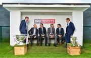 8 May 2018; Sky Sports today announced its GAA fixtures for the 2018 Championship from an event in Parnells GAA Club. A total of 20 live, and 14 exclusive, fixtures of Championship action will be available on Sky's multi-platform offering. Exclusive coverage gets underway with a mouth-watering double-header on June 2nd when 2017 All Ireland Hurling Champions Galway take on Wexford and Cork take on old rivals Limerick in what are bound to be hotly contested fixtures. Kilkenny's eight-time All-Ireland winner and three-time All Star, Michael Fennelly, will join a stellar line-up of GAA legends for Sky Sports' most exciting season of GAA coverage to date. This year will once again see insight and analysis across both codes from Tyrone hero Peter Canavan, former Mayo manager James Horan, former Donegal manager Jim McGuinness, former Dublin GAA star Senan Connell,  Clare's two-time All-Ireland champion Jamesie O'Connor, Kilkenny's nine-time All-Ireland winner JJ Delaney and four-time All-Star defender Ollie Canning. Lead commentary will come from Dave McIntyre and Mike Finnerty with co-commentary from Nicky English, new addition Mick Fennelly, Dick Clerkin and Paul Earley, and sideline reporting from Damian Lawlor. Pictured at the launch are Ard Stiúrthóir of the GAA Tom Ryan, 3rd from left, and JJ Buckley, MD, Sky Ireland, 4th from left, with analysts, from left, Senan Connell, Peter Canavan, Jamesie O'Connor and JJ Delaney at Parnells GAA Club, Dublin. Photo by Brendan Moran/Sportsfile