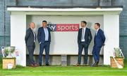 8 May 2018; Sky Sports today announced its GAA fixtures for the 2018 Championship from an event in Parnells GAA Club. A total of 20 live, and 14 exclusive, fixtures of Championship action will be available on Sky's multi-platform offering. Exclusive coverage gets underway with a mouth-watering double-header on June 2nd when 2017 All Ireland Hurling Champions Galway take on Wexford and Cork take on old rivals Limerick in what are bound to be hotly contested fixtures. Kilkenny's eight-time All-Ireland winner and three-time All Star, Michael Fennelly, will join a stellar line-up of GAA legends for Sky Sports' most exciting season of GAA coverage to date. This year will once again see insight and analysis across both codes from Tyrone hero Peter Canavan, former Mayo manager James Horan, former Donegal manager Jim McGuinness, former Dublin GAA star Senan Connell,  Clare's two-time All-Ireland champion Jamesie O'Connor, Kilkenny's nine-time All-Ireland winner JJ Delaney and four-time All-Star defender Ollie Canning. Lead commentary will come from Dave McIntyre and Mike Finnerty with co-commentary from Nicky English, new addition Mick Fennelly, Dick Clerkin and Paul Earley, and sideline reporting from Damian Lawlor. Pictured at the launch are, from left, analysts Peter Canavan, Senan Connell, JJ Delaney and Jamesie O'Connor at Parnells GAA Club, Dublin. Photo by Brendan Moran/Sportsfile