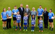 8 May 2018; In attendance during the announcement of the renewal of AIG's sponsorship deal with Dublin GAA, Dublin LGFA and Dubin Camogie, are,  back row from left, Hannah Hegarty of Dublin, Jenny Byrne, Dublin Camogie Chairperson, John Small of Dublin, John Costello, Dublin GAA Chief Executive, Declan O'Rourke, General manager AIG Ireland, Mary O'Connor, Secretary,  Dublin LGFA, Conal Keaney of Dublin, Mick Seavers, Vice Chairman, Dubin GAA, and Lyndsey Davey of Dublin, with front row, from left, Kate Cooling, Rían O'Reilly, Sophie-Bao Garrahy and Max O'Reilly of Beann Éadair GAA Club.The announcement took place  at Beann Éadair GAA Club, in Balkill Rd, Howth, Dublin. Photo by Sam Barnes/Sportsfile