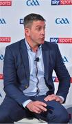 8 May 2018; Sky Sports today announced its GAA fixtures for the 2018 Championship from an event in Parnells GAA Club. A total of 20 live, and 14 exclusive, fixtures of Championship action will be available on Sky's multi-platform offering. Exclusive coverage gets underway with a mouth-watering double-header on June 2nd when 2017 All Ireland Hurling Champions Galway take on Wexford and Cork take on old rivals Limerick in what are bound to be hotly contested fixtures. Kilkenny's eight-time All-Ireland winner and three-time All Star, Michael Fennelly, will join a stellar line-up of GAA legends for Sky Sports' most exciting season of GAA coverage to date. This year will once again see insight and analysis across both codes from Tyrone hero Peter Canavan, former Mayo manager James Horan, former Donegal manager Jim McGuinness, former Dublin GAA star Senan Connell,  Clare's two-time All-Ireland champion Jamesie O'Connor, Kilkenny's nine-time All-Ireland winner JJ Delaney and four-time All-Star defender Ollie Canning. Lead commentary will come from Dave McIntyre and Mike Finnerty with co-commentary from Nicky English, new addition Mick Fennelly, Dick Clerkin and Paul Earley, and sideline reporting from Damian Lawlor. Speaking at the launch at Parnells GAA Club, Dublin is football analyst Senan Connell. Photo by Brendan Moran/Sportsfile