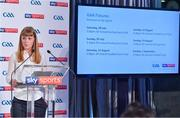 8 May 2018; Sky Sports today announced its GAA fixtures for the 2018 Championship from an event in Parnells GAA Club. A total of 20 live, and 14 exclusive, fixtures of Championship action will be available on Sky's multi-platform offering. Exclusive coverage gets underway with a mouth-watering double-header on June 2nd when 2017 All Ireland Hurling Champions Galway take on Wexford and Cork take on old rivals Limerick in what are bound to be hotly contested fixtures. Kilkenny's eight-time All-Ireland winner and three-time All Star, Michael Fennelly, will join a stellar line-up of GAA legends for Sky Sports' most exciting season of GAA coverage to date. This year will once again see insight and analysis across both codes from Tyrone hero Peter Canavan, former Mayo manager James Horan, former Donegal manager Jim McGuinness, former Dublin GAA star Senan Connell,  Clare's two-time All-Ireland champion Jamesie O'Connor, Kilkenny's nine-time All-Ireland winner JJ Delaney and four-time All-Star defender Ollie Canning. Lead commentary will come from Dave McIntyre and Mike Finnerty with co-commentary from Nicky English, new addition Mick Fennelly, Dick Clerkin and Paul Earley, and sideline reporting from Damian Lawlor. Speaking at the launch at Parnells GAA Club, Dublin is Georgie Faulkner, Head of Muti-Sport, Sky Sports. Photo by Brendan Moran/Sportsfile