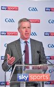 8 May 2018; Sky Sports today announced its GAA fixtures for the 2018 Championship from an event in Parnells GAA Club. A total of 20 live, and 14 exclusive, fixtures of Championship action will be available on Sky's multi-platform offering. Exclusive coverage gets underway with a mouth-watering double-header on June 2nd when 2017 All Ireland Hurling Champions Galway take on Wexford and Cork take on old rivals Limerick in what are bound to be hotly contested fixtures. Kilkenny's eight-time All-Ireland winner and three-time All Star, Michael Fennelly, will join a stellar line-up of GAA legends for Sky Sports' most exciting season of GAA coverage to date. This year will once again see insight and analysis across both codes from Tyrone hero Peter Canavan, former Mayo manager James Horan, former Donegal manager Jim McGuinness, former Dublin GAA star Senan Connell,  Clare's two-time All-Ireland champion Jamesie O'Connor, Kilkenny's nine-time All-Ireland winner JJ Delaney and four-time All-Star defender Ollie Canning. Lead commentary will come from Dave McIntyre and Mike Finnerty with co-commentary from Nicky English, new addition Mick Fennelly, Dick Clerkin and Paul Earley, and sideline reporting from Damian Lawlor. Speaking at the launch at Parnells GAA Club, Dublin is JD Buckley, MD, Sky Ireland. Photo by Brendan Moran/Sportsfile