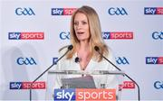 8 May 2018; Sky Sports today announced its GAA fixtures for the 2018 Championship from an event in Parnells GAA Club. A total of 20 live, and 14 exclusive, fixtures of Championship action will be available on Sky's multi-platform offering. Exclusive coverage gets underway with a mouth-watering double-header on June 2nd when 2017 All Ireland Hurling Champions Galway take on Wexford and Cork take on old rivals Limerick in what are bound to be hotly contested fixtures. Kilkenny's eight-time All-Ireland winner and three-time All Star, Michael Fennelly, will join a stellar line-up of GAA legends for Sky Sports' most exciting season of GAA coverage to date. This year will once again see insight and analysis across both codes from Tyrone hero Peter Canavan, former Mayo manager James Horan, former Donegal manager Jim McGuinness, former Dublin GAA star Senan Connell,  Clare's two-time All-Ireland champion Jamesie O'Connor, Kilkenny's nine-time All-Ireland winner JJ Delaney and four-time All-Star defender Ollie Canning. Lead commentary will come from Dave McIntyre and Mike Finnerty with co-commentary from Nicky English, new addition Mick Fennelly, Dick Clerkin and Paul Earley, and sideline reporting from Damian Lawlor. Speaking at the launch at Parnells GAA Club, Dublin is presenter Rachel Wyse. Photo by Brendan Moran/Sportsfile