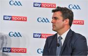 8 May 2018; Sky Sports today announced its GAA fixtures for the 2018 Championship from an event in Parnells GAA Club. A total of 20 live, and 14 exclusive, fixtures of Championship action will be available on Sky's multi-platform offering. Exclusive coverage gets underway with a mouth-watering double-header on June 2nd when 2017 All Ireland Hurling Champions Galway take on Wexford and Cork take on old rivals Limerick in what are bound to be hotly contested fixtures. Kilkenny's eight-time All-Ireland winner and three-time All Star, Michael Fennelly, will join a stellar line-up of GAA legends for Sky Sports' most exciting season of GAA coverage to date. This year will once again see insight and analysis across both codes from Tyrone hero Peter Canavan, former Mayo manager James Horan, former Donegal manager Jim McGuinness, former Dublin GAA star Senan Connell,  Clare's two-time All-Ireland champion Jamesie O'Connor, Kilkenny's nine-time All-Ireland winner JJ Delaney and four-time All-Star defender Ollie Canning. Lead commentary will come from Dave McIntyre and Mike Finnerty with co-commentary from Nicky English, new addition Mick Fennelly, Dick Clerkin and Paul Earley, and sideline reporting from Damian Lawlor. Speaking at the launch at Parnells GAA Club, Dublin is presenter Brian Carney. Photo by Brendan Moran/Sportsfile