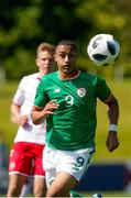 8 May 2018; Adam Idah of Republic of Ireland during the UEFA U17 Championship Final match between Republic of Ireland and Denmark at St Georges Park in Burton, England. Photo by Malcolm Couzens/Sportsfile