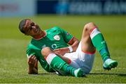 8 May 2018; Adam Idah of Republic of Ireland reacts during the UEFA U17 Championship Final match between Republic of Ireland and Denmark at St Georges Park in Burton, England. Photo by Malcolm Couzens/Sportsfile