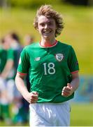 8 May 2018; Luca Connell of Republic of Ireland celebrates following the UEFA U17 Championship Final match between Republic of Ireland and Denmark at St Georges Park in Burton, England. Photo by Malcolm Couzens/Sportsfile