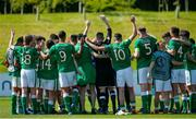 8 May 2018; Republic of Ireland players celebrate following the UEFA U17 Championship Final match between Republic of Ireland and Denmark at St Georges Park in Burton, England. Photo by Malcolm Couzens/Sportsfile