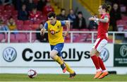 8 May 2018; Dean Walsh of Waterford in action against Rhys McCabe of Sligo Rovers during the EA Sports Cup Quarter-Final match between Sligo Rovers and Waterford at The Showgrounds, in Sligo. Photo by Oliver McVeigh/Sportsfile
