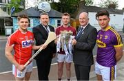 9 May 2018; In attendance at the launch of Bord Gáis Energy's summer of hurling are, Mark Prentice, 2nd from left, Interim MD, Bord Gáis Energy, Uachtarán Chumann Lúthchleas Gael John Horan, and ambassadors, from left,  Alan Cadogan of Cork, Joe Canning of Galway, and Conor McDonald of Wexford. Throughout the Senior Hurling Championship, Bord Gáis Energy will be offering fans unmissable GAA rewards through the Bord Gáis Energy Rewards Club. Photo by Brendan Moran/Sportsfile