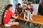 9 May 2018; In attendance at the launch of Bord Gáis Energy's summer of hurling are ambassadors, from left, Alan Cadogan of Cork, Joe Canning of Galway and Conor McDonald of Wexford. Throughout the Senior Hurling Championship, Bord Gáis Energy will be offering fans unmissable GAA rewards through the Bord Gáis Energy Rewards Club.  Photo by Brendan Moran/Sportsfile