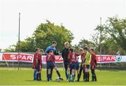 10 May 2018; Players from St. Marys Donneybrook, Dublin, ahead of the SPAR FAI Primary Schools 5s Programme Leinster Finals in the MDL Grounds, Navan, Co. Meath.  The six finalists will progress to the SPAR FAI Primary School 5s Programme National Finals in Aviva Stadium on May 30th. For further information please see www.SPAR.ie or www.FAIschools.ie Photo by Eóin Noonan/Sportsfile