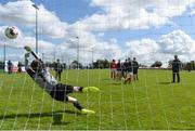 10 May 2018; Players from Gaelschoil Chluain Dolcain, Clondalkin, warm up prior to the SPAR FAI Primary School 5s Programme National Finals in Aviva Stadium on May 30th. For further information please see www.SPAR.ie or www.FAIschools.ie Photo by David Fitzgerald/Sportsfile