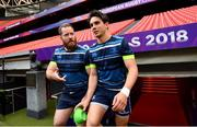 11 May 2018; Michael Bent, left, and Joey Carbery ahead of the Leinster Rugby captains run at the San Mames Stadium, in Bilbao, Spain. Photo by Ramsey Cardy/Sportsfile