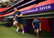 11 May 2018; Jordan Larmour ahead of the Leinster Rugby captains run at the San Mames Stadium, in Bilbao, Spain. Photo by Ramsey Cardy/Sportsfile